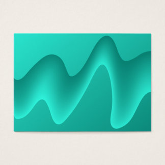 Teal Abstract Design Image. Business Card