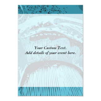 Teal Abstract. 5x7 Paper Invitation Card