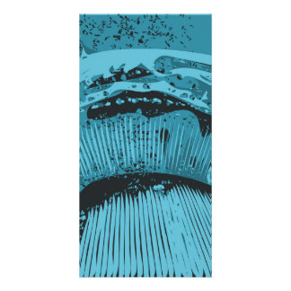 Teal Abstract. Personalized Photo Card