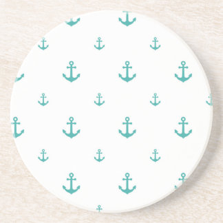 Teal Anchors Coaster