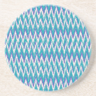 Teal and Amethyst iKat ZigZag pattern Coaster