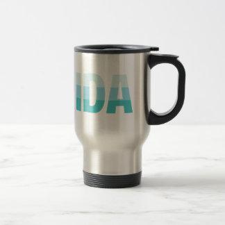 Teal and Aqua Florida Travel Mug