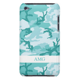 Teal and Aquamarine Urban Camoflage Pattern iPod Touch Case