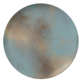 Teal and Brown Calming Palette | Melamine Plate
