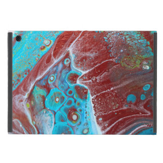 Teal and Copper Acrylic Abstract Cover For iPad Mini