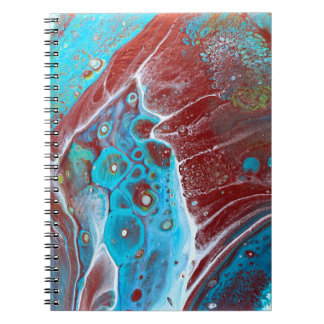 Teal and Copper Acrylic Pour Art Notebooks