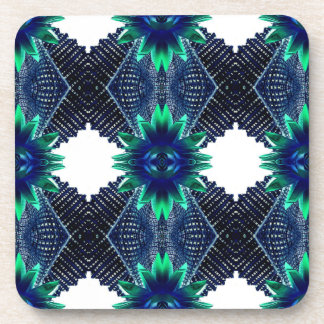 Teal And Dark Blue Dry Flower Coaster