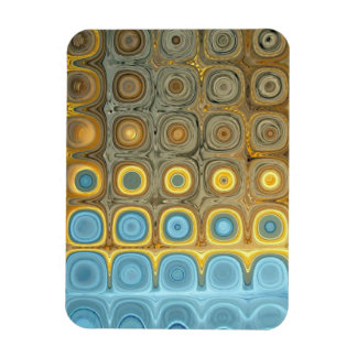 Teal and Gold Glass Blocks Magnet