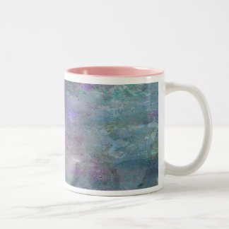 Teal and Lilac Abstract Coffee Mugs