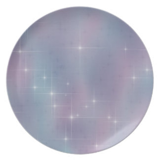 Teal and Mauve Twinkle Plate