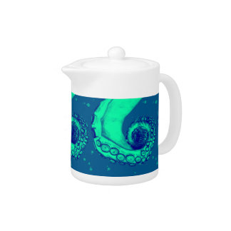 Teal and Navy Nautical Octopus Tentacle