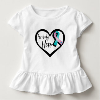 Teal and Pink Awareness For My Hero T-shirts