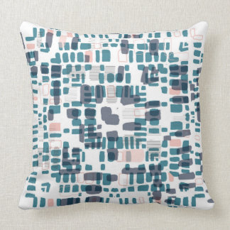 Teal and pink beads pillow