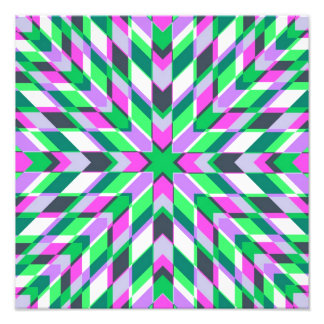 Teal and Pink Fractals Art Photo