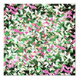 Teal and Pink Geometric Explosion Photo