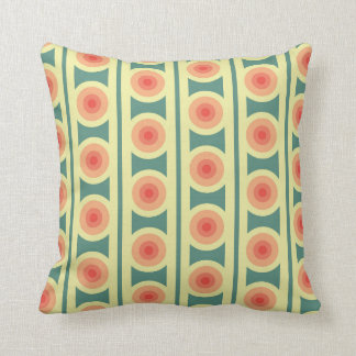 Teal and pink retro pillow