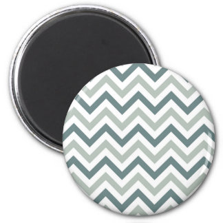 Teal and sage chevron magnet
