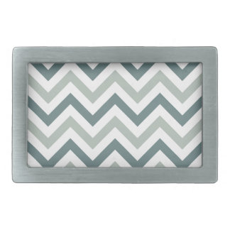 Teal and sage chevron rectangular belt buckle