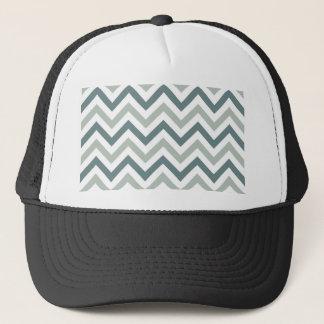 Teal and sage chevron trucker hat