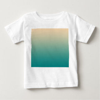 Teal and sand yellow gradient baby T-Shirt