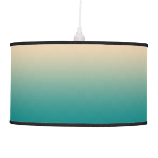 Teal and sand yellow gradient pendant lamp