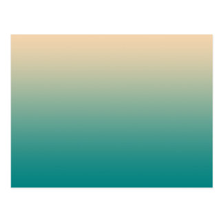 Teal and sand yellow gradient postcard