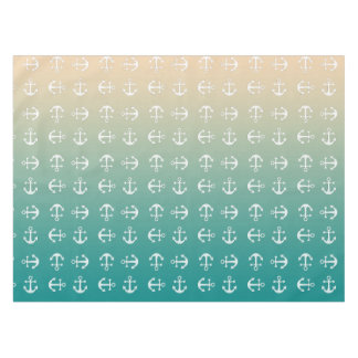 Teal and sand yellow gradient tablecloth