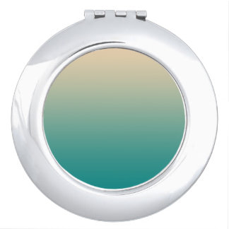 Teal and sand yellow gradient travel mirror