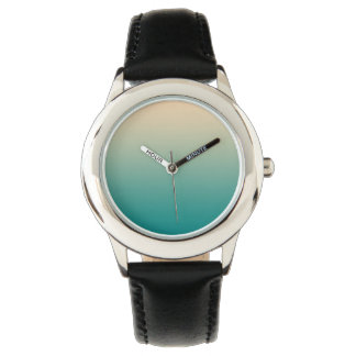Teal and sand yellow gradient watch