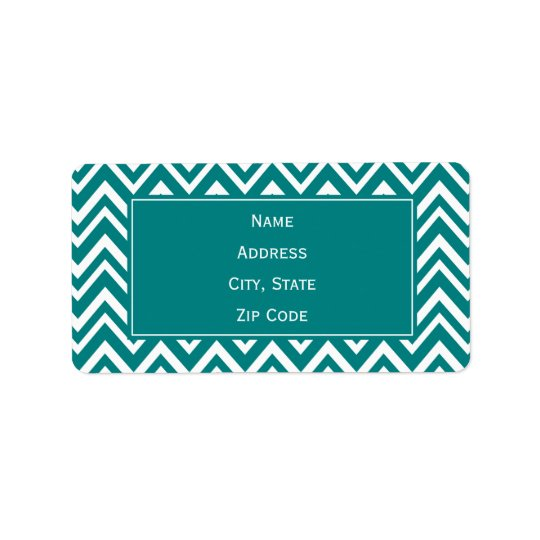 Teal and White Chevron Pattern