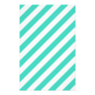 Teal and White Diagonal Stripes Pattern Flyer