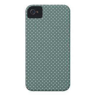 Teal and white polka dot pin dots print iphone 4 iPhone 4 case