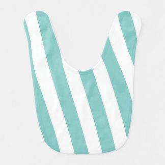 Teal and White Stripes Bib