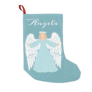 Teal Angel Small Christmas Stocking