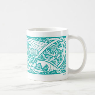 Teal Angel Vignette Mug