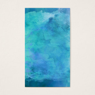 Teal Aqua Blue Teal Watercolor Texture Pattern Business Card