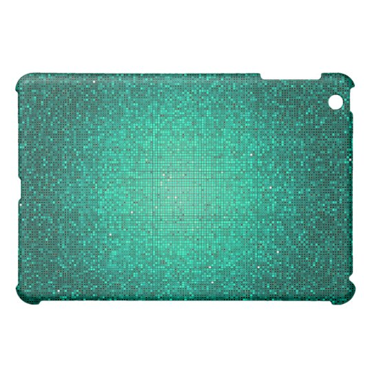 Teal Aqua Glitter Sequin Disco Glitz iPad Case