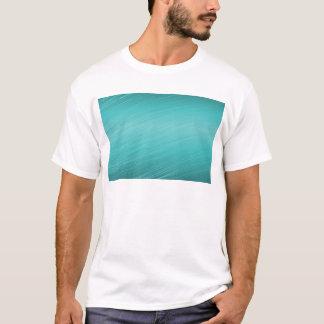 Teal aqua paper business shiny border T-Shirt