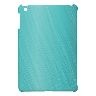 teal, aqua, turquoise, scratched pattern iPad mini cases