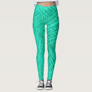Teal Aqua Twist Leggings