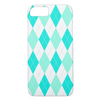 Teal Argyle iPhone 7 Case