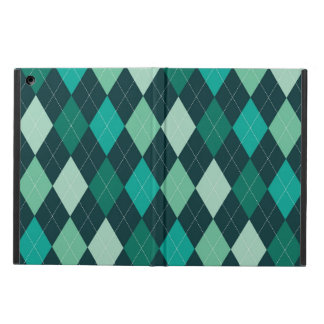 Teal argyle pattern case for iPad air