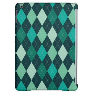 Teal argyle pattern iPad air cases