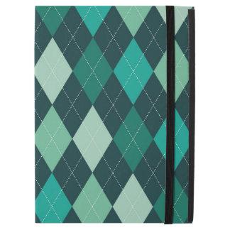 """Teal argyle pattern iPad pro 12.9"""" case"""