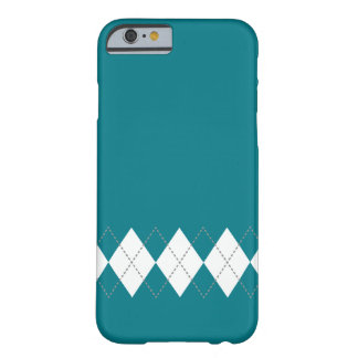 Teal Argyle Pattern iPhone 6 case