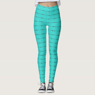 Teal Arrows Leggings