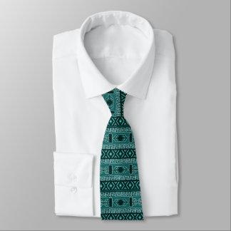 Teal Aztec Pattern Tie