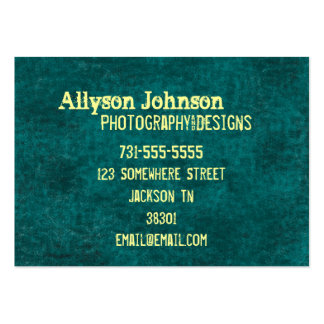 Teal Background Business Cards