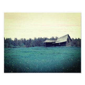 Teal Barn Print