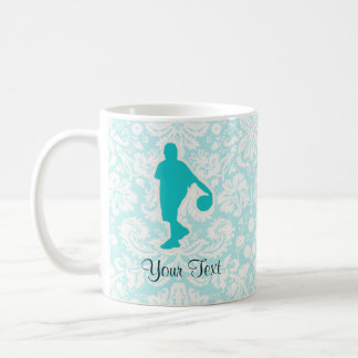 Teal Basketball Coffee Mugs